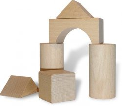 Klocki drewniane, zabawki